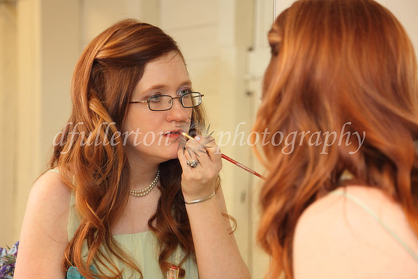 Here one of Beth's bridesmaids Bekki prepared for the ceremony on 3-25-11,