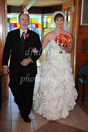 Katharina, escorted by her father, took to the aisle to begin the Mass on 6-25-11.