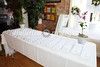 Seating table for Max and Michelle's Wedding, 8-1-09.