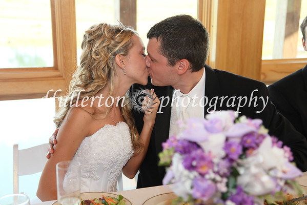 An intimate kiss during the reception.