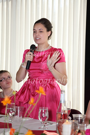 Here, one of Katharina's bridesmaids gave her toast to the newlyweds.