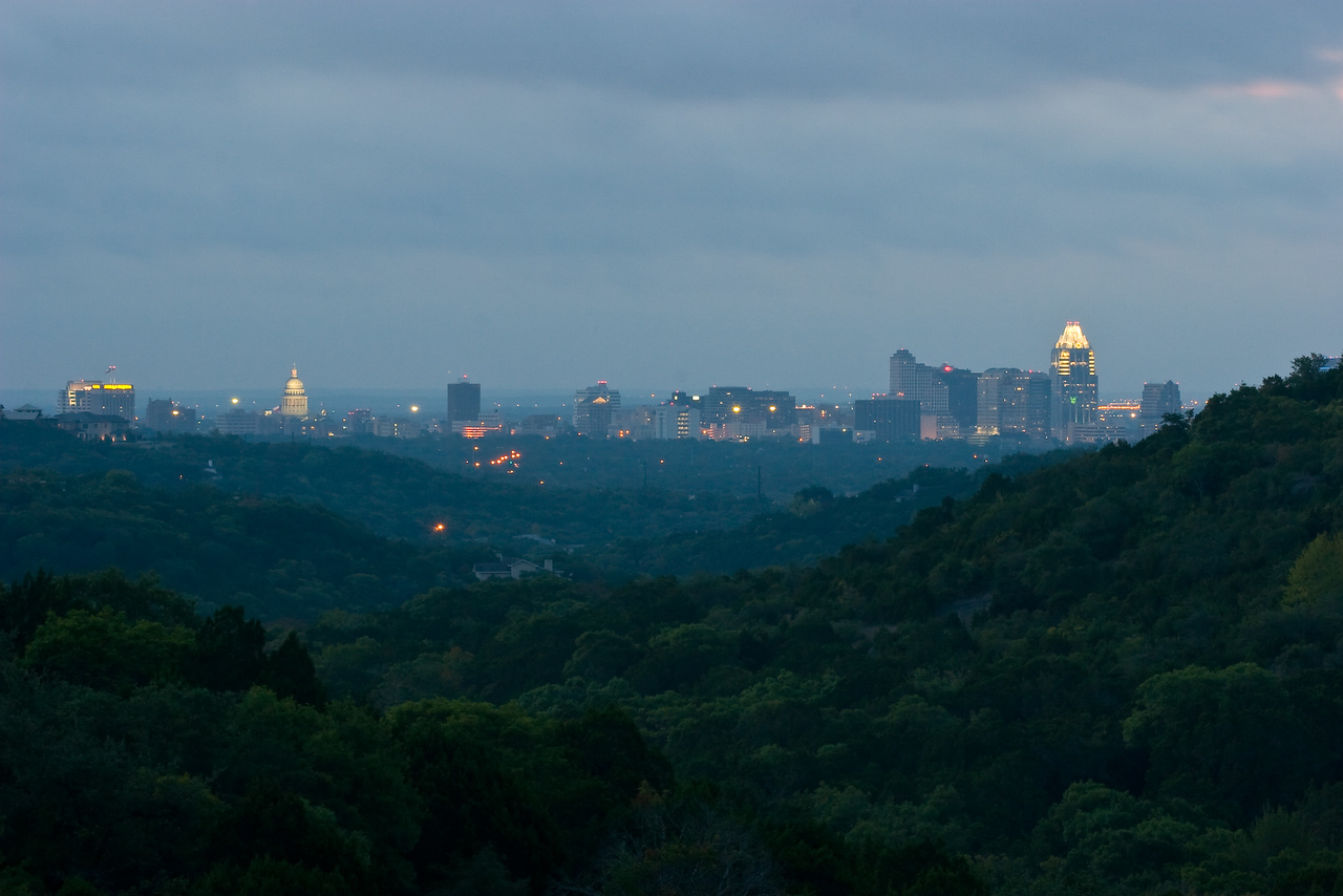 Downtown Austin from Texas State Highway Loop 360