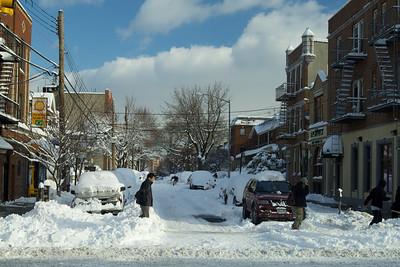 Subway Excursion after Snowstorm