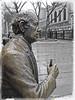 Red Auebauch bronze - Quincy Market, Boston, MA