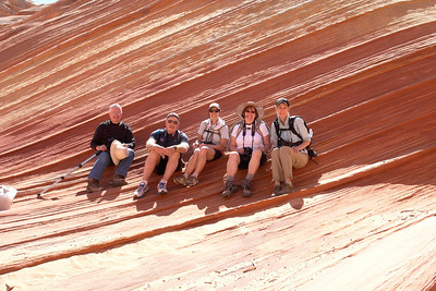 Wave permits are restricted to 6 in any one group.  We were fortunate to get a permit.  Two of the group went to Coyote Buttes South while the rest of us took in the fabulous Wave.