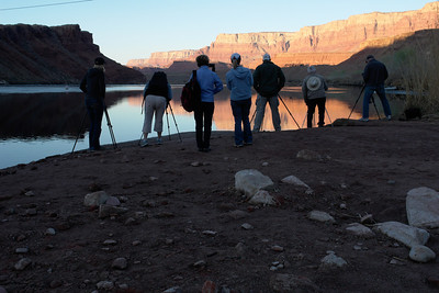 Sunrise photo session at Lee's Ferry, Arizona.