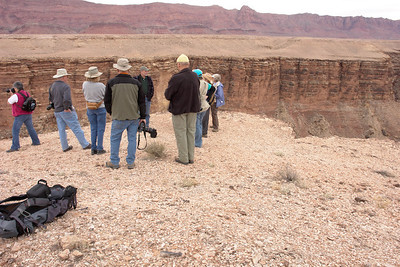 _DSC7400   2009 Class on the rim at Marble Canyon