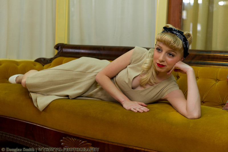 Pin up girl shoot<br /> I went to my first Pin up Girl Workshop yesterday at the Bisbee Breakfast Club and here is one of my favorites.