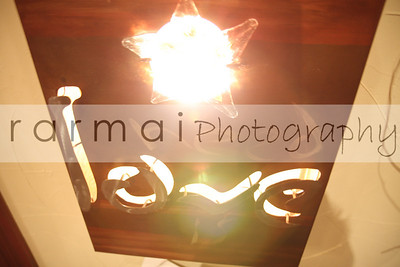 "PHOTO#1 a ""love"" sign with 3 LOVES on it. and 2 STAR lights. :)"