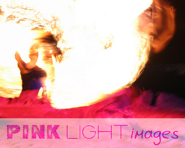 Photographic blend of pictures from mexico.  Fire dancers.