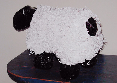 Cassis Pitman Pasta Sheep  2009 unknown Pasta/Paint/Wire