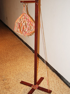Cassis Pitman  Lantern  2009 1ft X5ft  Wood/Wire/Yarn/Wood Stain