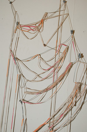 Cassis Pitman (Colaborative)  Staircase 2009 1ft X 8ft Wire/Yarn/Tape
