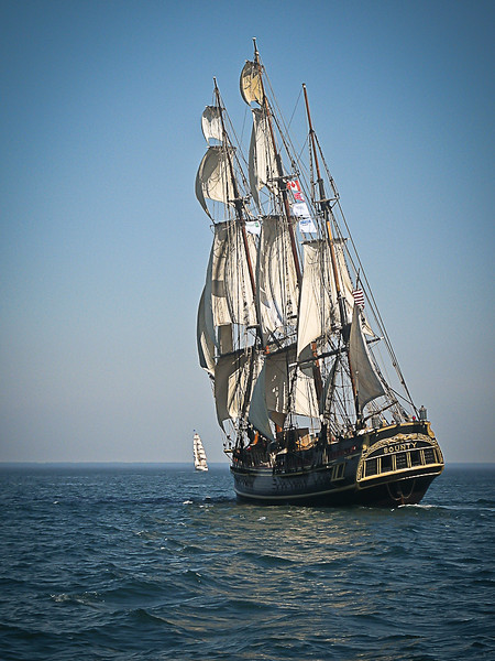 "The HMS Bounty was built in Lunenburg Nova Scotia for the 1960 film "" Mutiny on the Bounty"".<br /> The Bounty sank off the east cost of the USA on Oct. 29 2012, in Hurricane Sandy, with the lost of 2 lives."
