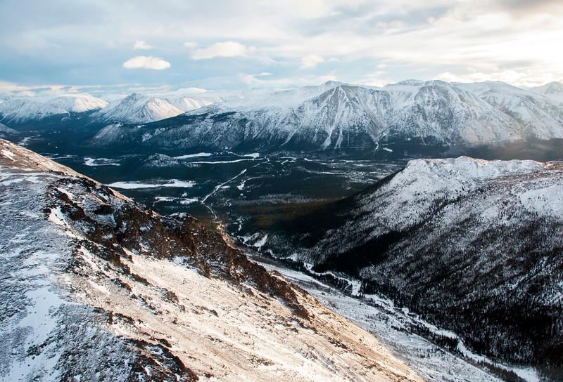 Heli tour. Coast Mountain region, Yukon Territory, Canada, December 2017