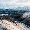 Heli tour. Coast Mountain region, Yukon Territory, Canada, December 2017