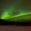 Northern Lights, 30 minutes drive north of Whitehorse, Yukon Territory.