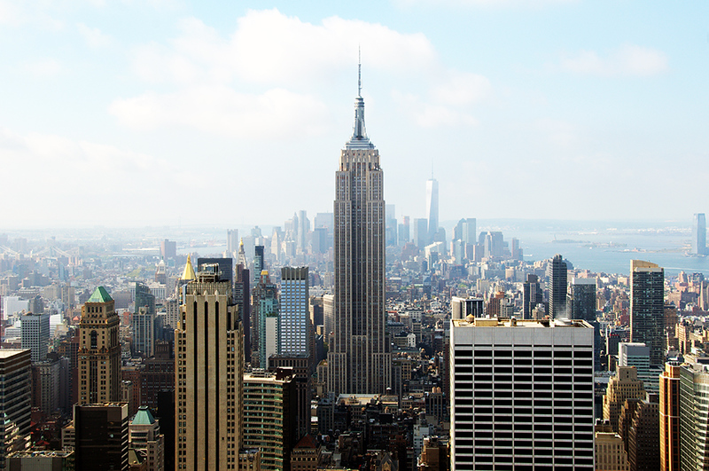 Empire State Building, New York City - view from the Rockefeller Building