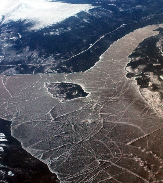 Flight approach from Vancouver to Whitehorse, Yukon Territory, Canada.