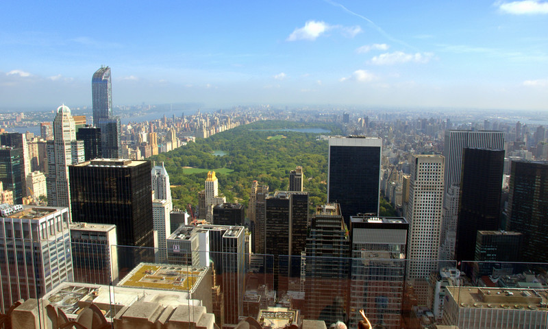 New York City, view from top of the Rockefeller Building