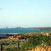 view northbound, coastal terrain