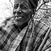 Maasai Chieftain in Black and White