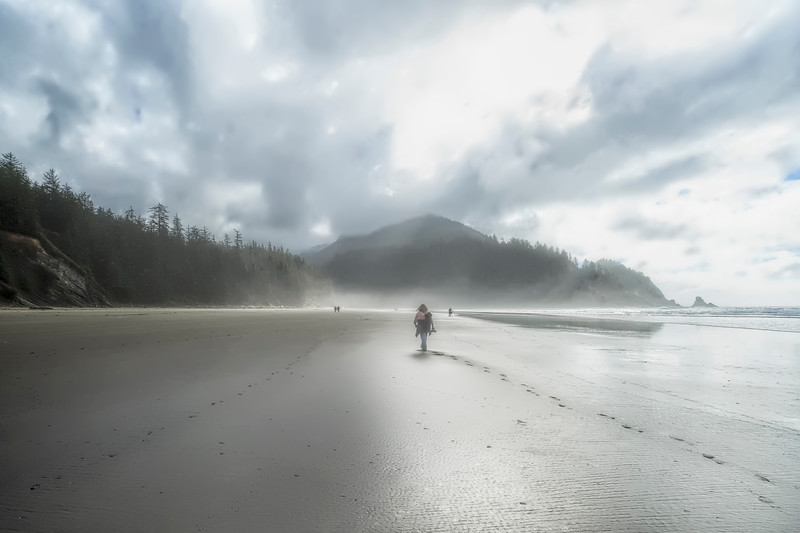 Misty Short Sands Beach in Oregon
