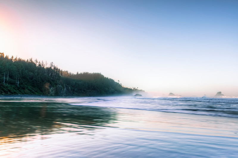 Beach Sunrise at Ecola State Park