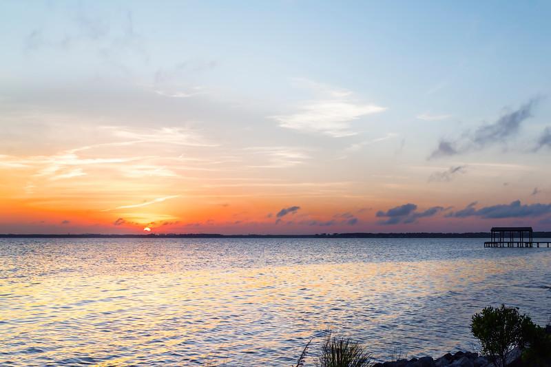 Destin Sunset Over the Bay