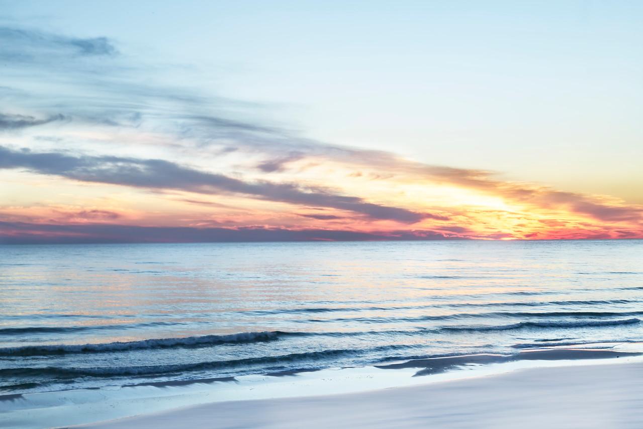 Destin Beach at Sunset