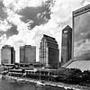 Jacksonville, Florida Skyline In Black and White