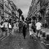 Avignon Street Scene in lack and White