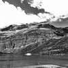 Glacier National Park Scenic Beauty in Black and White