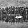 Glacier National Park Lake Reflections in Black and White