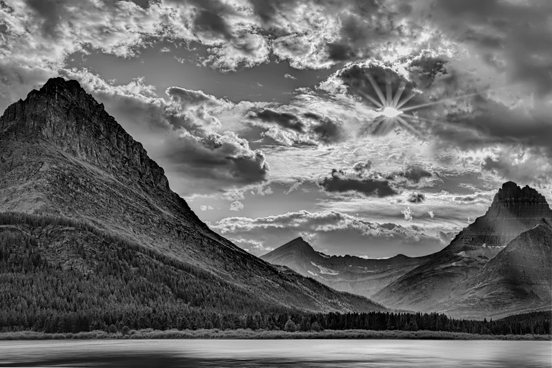 Glacier National Park in Black and White
