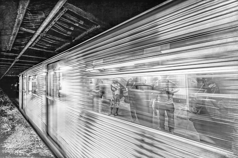 Life Speeds By in Black and White