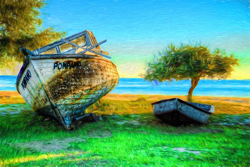 Abandoned Boats on Choctawhatchee Bay 2