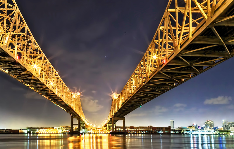 Crescent City Bridge in New Orleans