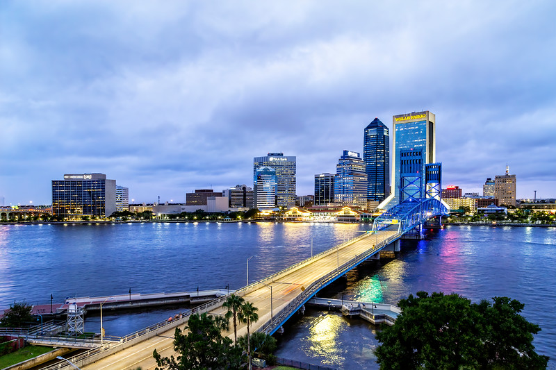 Downtown Jacksonville's Blue Hour