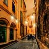 Avignon Alley at Sunset