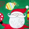 Santa Merry Christmas Card With Text