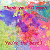 Thank You So Much Hibiscus Abstract