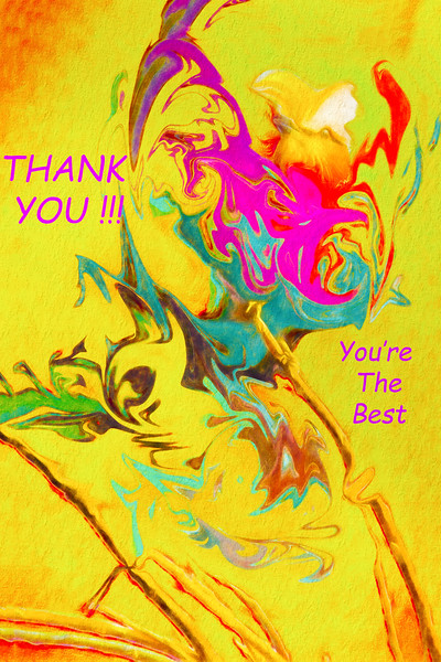 Thank You Card Abstract Lilac Breasted Roller