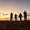 Photographers at Sunset On the Dunes