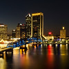 St Johns River Skyline By Night, Jacksonville, Florida