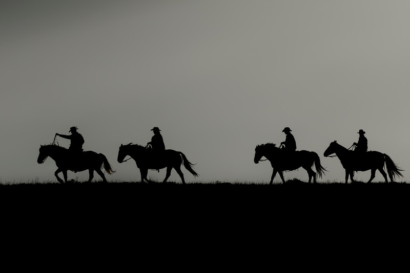 Riding the Range at Sunrise