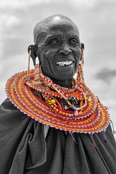 Maasai Woman in Selective Color