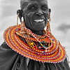 Maasai Woman in Selective Color