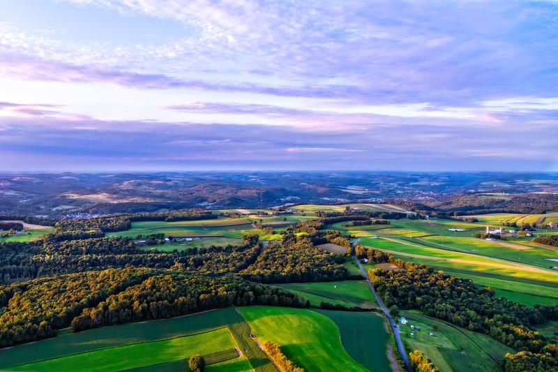 Landscape From An Ultralight Over New Bethlehem, Pennsylvania