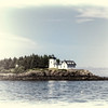 A Lighthouse in Maine in Sepia Fadeout